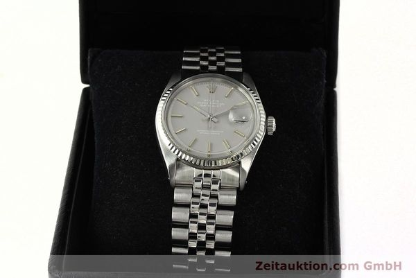 Used luxury watch Rolex Datejust steel / white gold automatic Kal. 1570 Ref. 1601  | 142597 07