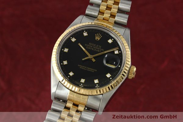 montre de luxe d occasion Rolex Datejust acier / or  automatique Kal. 3035 Ref. 16013  | 142598 04