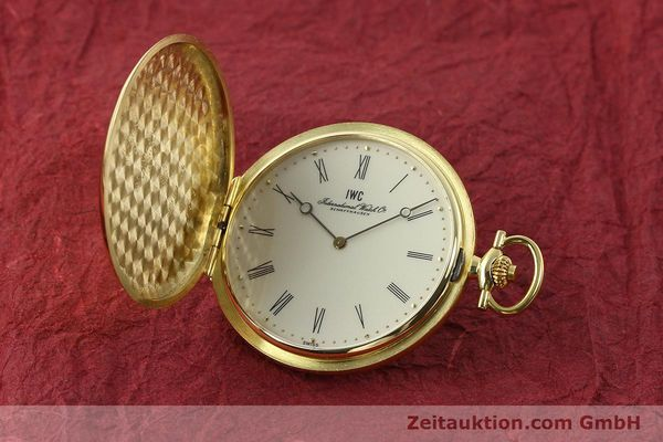 Used luxury watch IWC Taschenuhr 18 ct gold manual winding Kal. 1852 Ref. 5605  | 142601 04