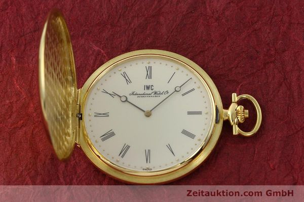 Used luxury watch IWC Taschenuhr 18 ct gold manual winding Kal. 1852 Ref. 5605  | 142601 14