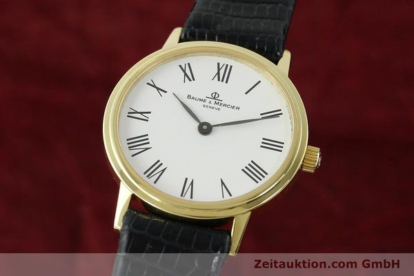 Used luxury watch Baume & Mercier * 18 ct gold quartz Kal. BM5095 ETA 976.001 Ref. MV045089  | 142604 04