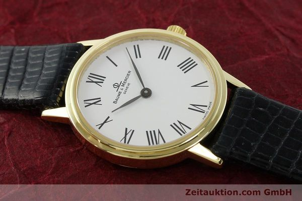 Used luxury watch Baume & Mercier * 18 ct gold quartz Kal. BM5095 ETA 976.001 Ref. MV045089  | 142604 14