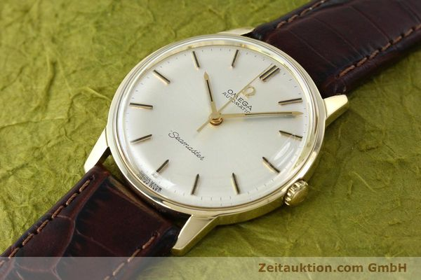 Used luxury watch Omega Seamaster 14 ct yellow gold automatic Kal. 552 Ref. 165001  | 142605 01