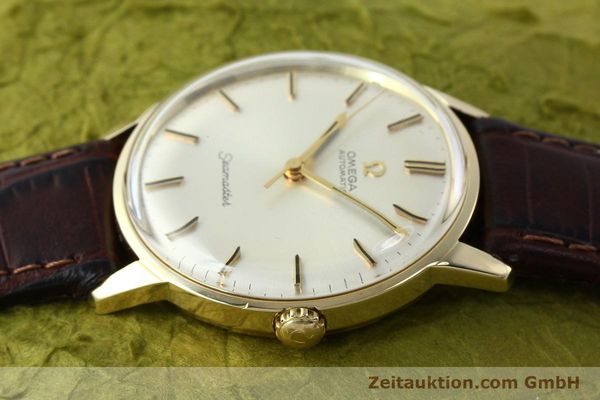 Used luxury watch Omega Seamaster 14 ct yellow gold automatic Kal. 552 Ref. 165001  | 142605 05