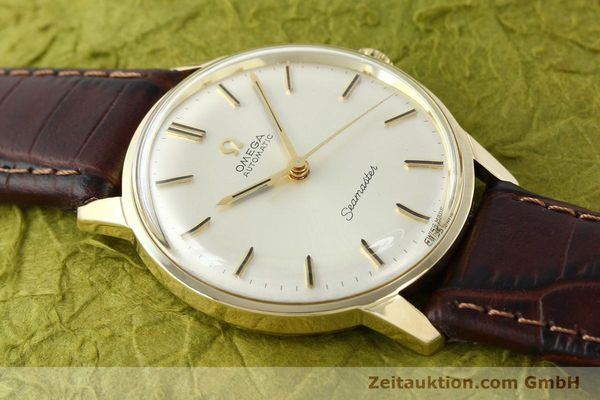 Used luxury watch Omega Seamaster 14 ct yellow gold automatic Kal. 552 Ref. 165001  | 142605 13