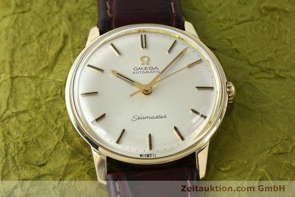 Used luxury watch Omega Seamaster 14 ct yellow gold automatic Kal. 552 Ref. 165001  | 142605 14