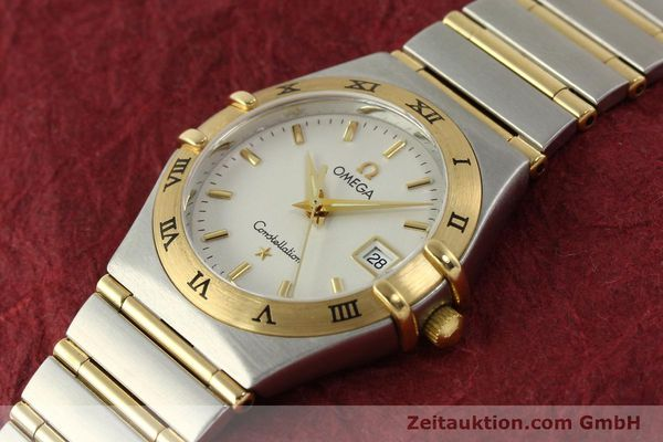 montre de luxe d occasion Omega Constellation acier / or  quartz Kal. 1424 ETA 256461 Ref. 1282.30.00  | 142607 01