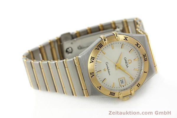 montre de luxe d occasion Omega Constellation acier / or  quartz Kal. 1424 ETA 256461 Ref. 1282.30.00  | 142607 03