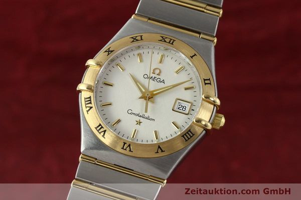 montre de luxe d occasion Omega Constellation acier / or  quartz Kal. 1424 ETA 256461 Ref. 1282.30.00  | 142607 04