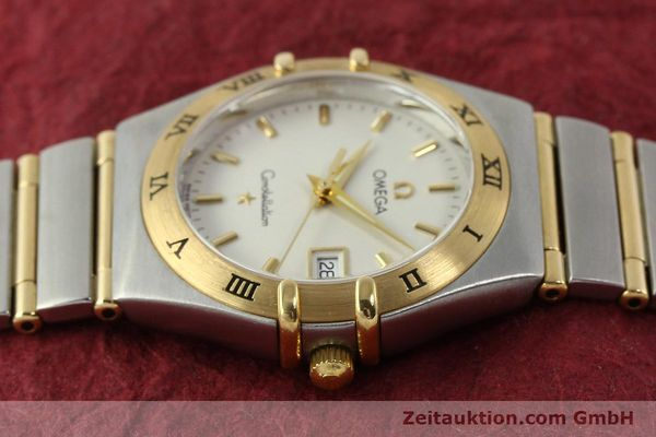 montre de luxe d occasion Omega Constellation acier / or  quartz Kal. 1424 ETA 256461 Ref. 1282.30.00  | 142607 05