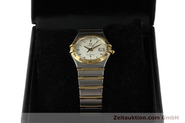 montre de luxe d occasion Omega Constellation acier / or  quartz Kal. 1424 ETA 256461 Ref. 1282.30.00  | 142607 07