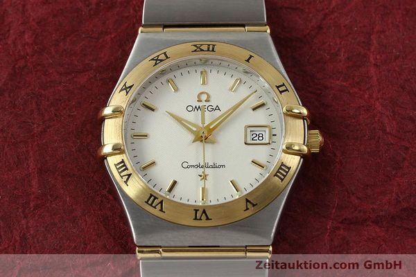 montre de luxe d occasion Omega Constellation acier / or  quartz Kal. 1424 ETA 256461 Ref. 1282.30.00  | 142607 17