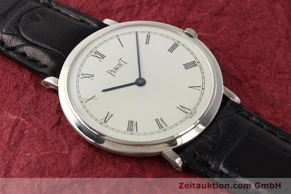 Used luxury watch Piaget Altiplano 18 ct white gold manual winding Kal. 9P Ref. 902  | 142608 15