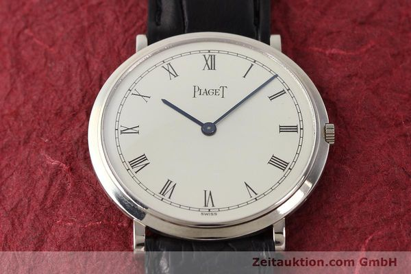 Used luxury watch Piaget Altiplano 18 ct white gold manual winding Kal. 9P Ref. 902  | 142608 16