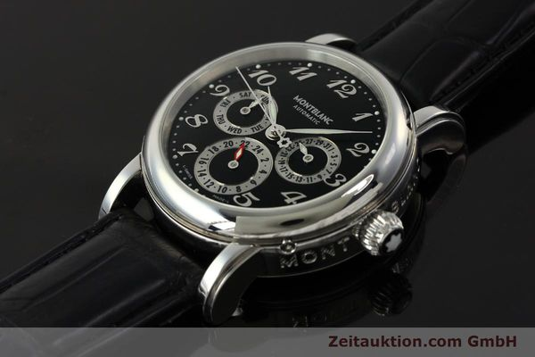 Used luxury watch Montblanc Meisterstück steel automatic Kal. 4810 601 ETA 2892A2 Ref. 7018  | 142611 01