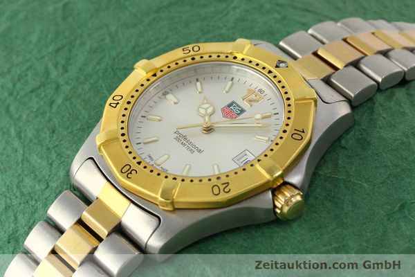 Used luxury watch Tag Heuer Professional gilt steel quartz Kal. 3.00 ETA 955.112 Ref. WK1120-0  | 142613 01