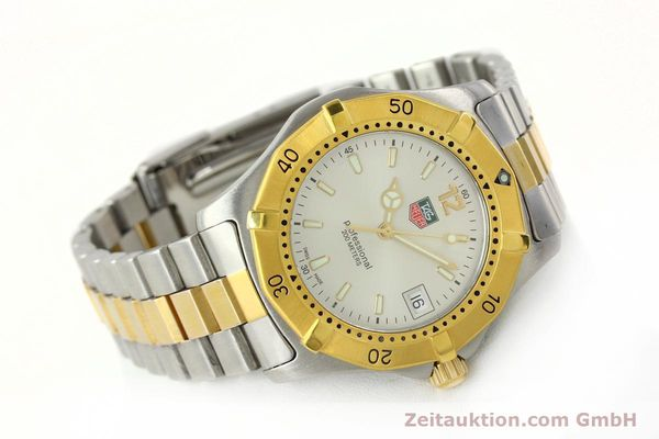 Used luxury watch Tag Heuer Professional gilt steel quartz Kal. 3.00 ETA 955.112 Ref. WK1120-0  | 142613 03