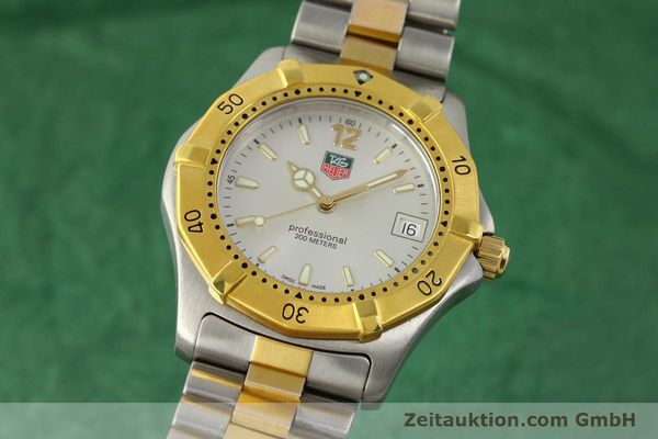 Used luxury watch Tag Heuer Professional gilt steel quartz Kal. 3.00 ETA 955.112 Ref. WK1120-0  | 142613 04