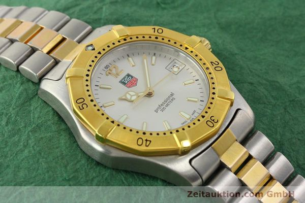 Used luxury watch Tag Heuer Professional gilt steel quartz Kal. 3.00 ETA 955.112 Ref. WK1120-0  | 142613 15