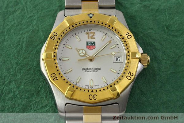 Used luxury watch Tag Heuer Professional gilt steel quartz Kal. 3.00 ETA 955.112 Ref. WK1120-0  | 142613 16