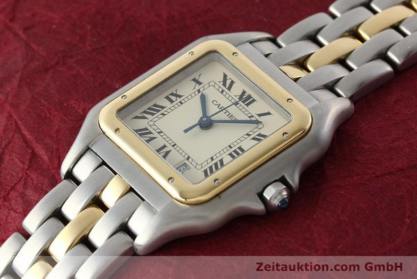 montre de luxe d occasion Cartier Panthere acier / or  quartz Kal. 83  | 142614 01