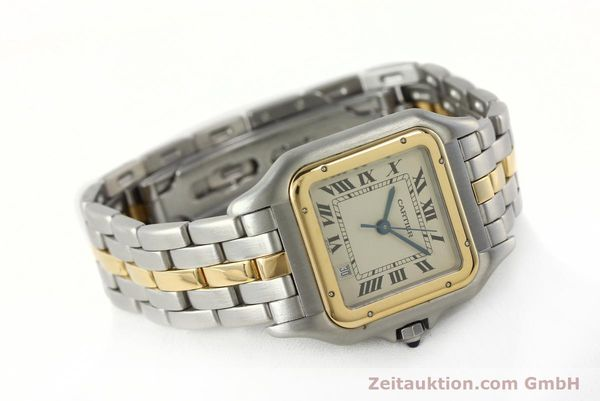 montre de luxe d occasion Cartier Panthere acier / or  quartz Kal. 83  | 142614 03