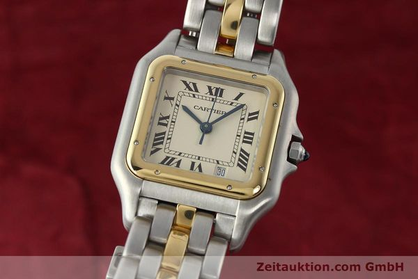 montre de luxe d occasion Cartier Panthere acier / or  quartz Kal. 83  | 142614 04