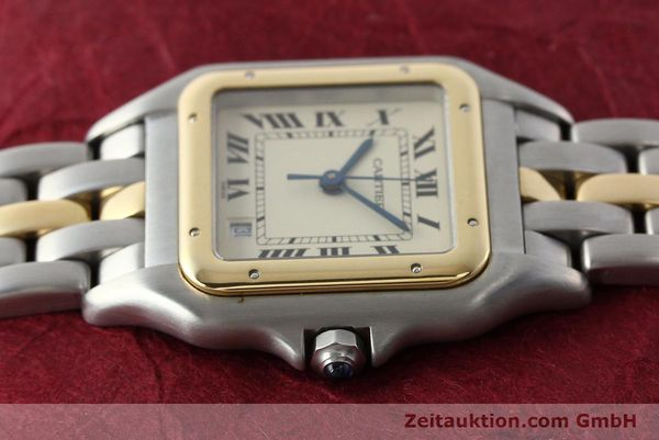 montre de luxe d occasion Cartier Panthere acier / or  quartz Kal. 83  | 142614 05