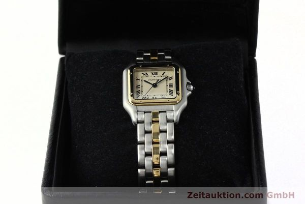 montre de luxe d occasion Cartier Panthere acier / or  quartz Kal. 83  | 142614 07
