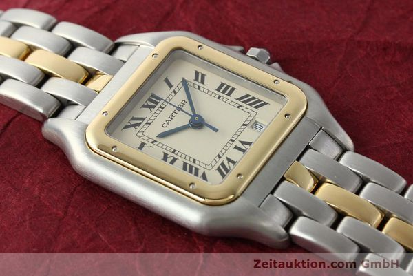 montre de luxe d occasion Cartier Panthere acier / or  quartz Kal. 83  | 142614 13