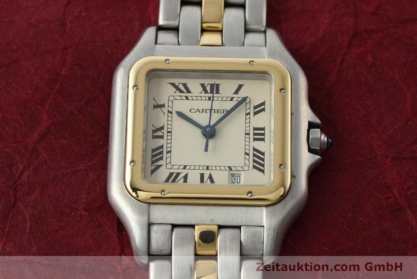 montre de luxe d occasion Cartier Panthere acier / or  quartz Kal. 83  | 142614 14