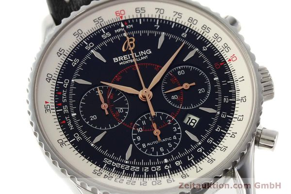 Used luxury watch Breitling Montbrillant chronograph steel automatic Kal. B41 ETA 2892A2 Ref. A41370  | 142618 02