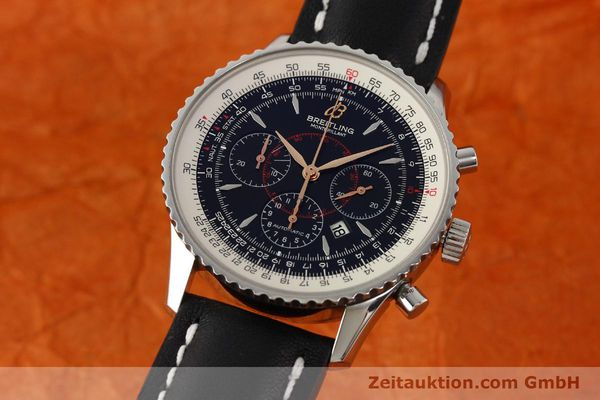 Used luxury watch Breitling Montbrillant chronograph steel automatic Kal. B41 ETA 2892A2 Ref. A41370  | 142618 04