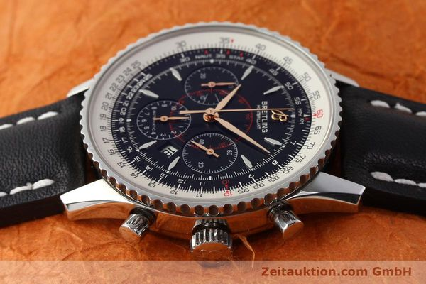 Used luxury watch Breitling Montbrillant chronograph steel automatic Kal. B41 ETA 2892A2 Ref. A41370  | 142618 05