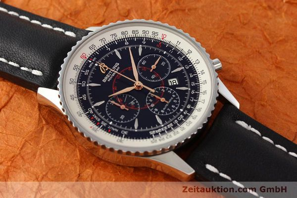 Used luxury watch Breitling Montbrillant chronograph steel automatic Kal. B41 ETA 2892A2 Ref. A41370  | 142618 15