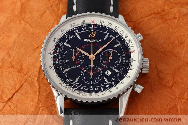 Used luxury watch Breitling Montbrillant chronograph steel automatic Kal. B41 ETA 2892A2 Ref. A41370  | 142618 16