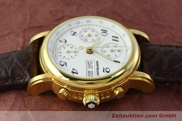 Used luxury watch Montblanc Meisterstück chronograph gold-plated automatic Kal. 4810501 ETA 7750 Ref. 7001  | 142619 05