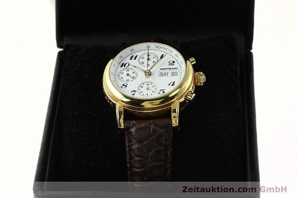 Used luxury watch Montblanc Meisterstück chronograph gold-plated automatic Kal. 4810501 ETA 7750 Ref. 7001  | 142619 07