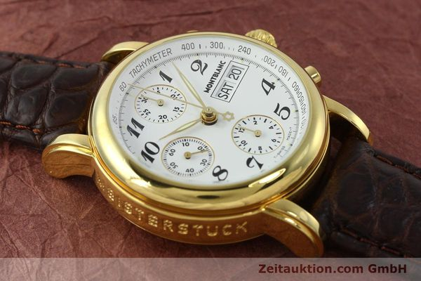 Used luxury watch Montblanc Meisterstück chronograph gold-plated automatic Kal. 4810501 ETA 7750 Ref. 7001  | 142619 13