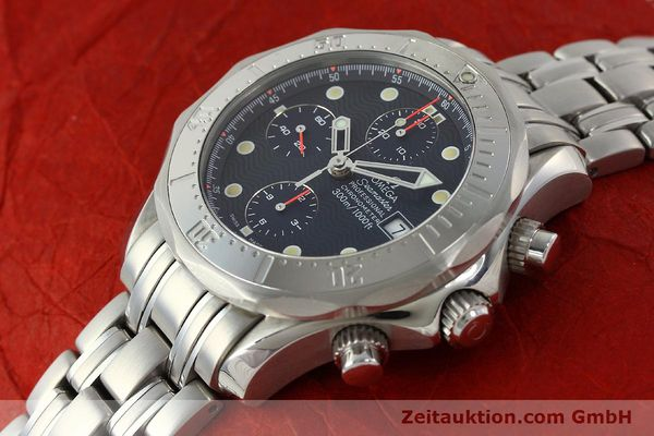 Used luxury watch Omega Seamaster chronograph steel automatic Kal. 1154 ETA 7750  | 142622 01