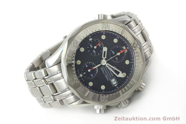 Used luxury watch Omega Seamaster chronograph steel automatic Kal. 1154 ETA 7750  | 142622 03