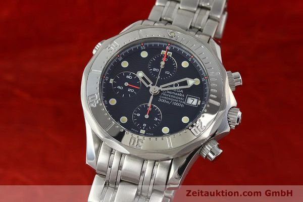 Used luxury watch Omega Seamaster chronograph steel automatic Kal. 1154 ETA 7750  | 142622 04