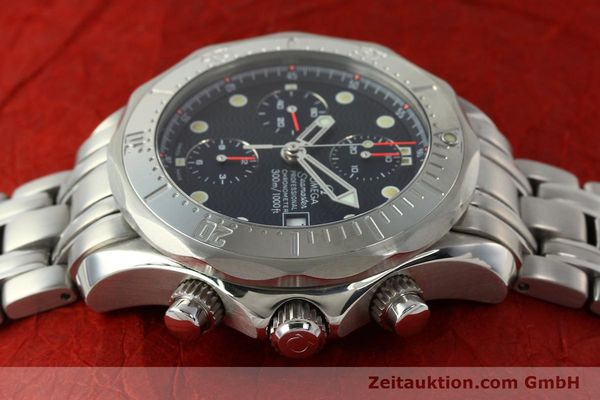 Used luxury watch Omega Seamaster chronograph steel automatic Kal. 1154 ETA 7750  | 142622 05