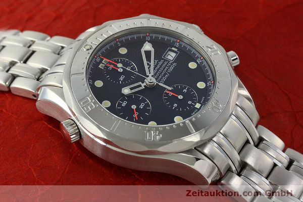 Used luxury watch Omega Seamaster chronograph steel automatic Kal. 1154 ETA 7750  | 142622 17
