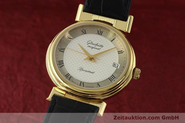 Used luxury watch Glashütte Spezimat gold-plated automatic Kal. 10-30  | 142623 04