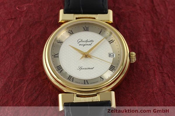 Used luxury watch Glashütte Spezimat gold-plated automatic Kal. 10-30  | 142623 14