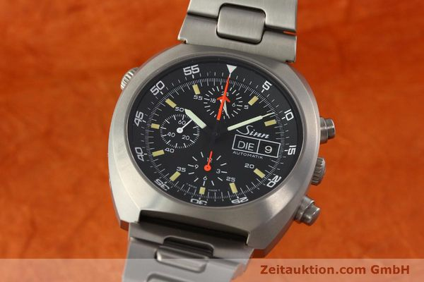 Used luxury watch Sinn D1 Mission chronograph titanium automatic Kal. 5100 Ref. 140/42  | 142626 04