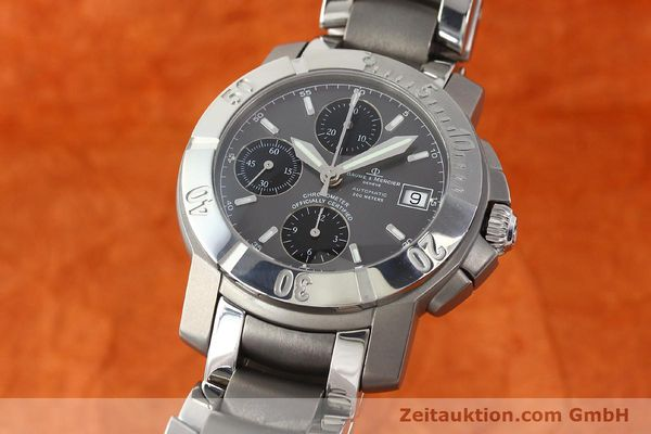 Used luxury watch Baume & Mercier Capeland chronograph steel / titanium automatic Kal. ETA 7750 Ref. 65390  | 142630 04
