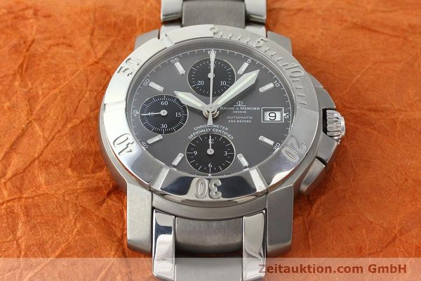 Used luxury watch Baume & Mercier Capeland chronograph steel / titanium automatic Kal. ETA 7750 Ref. 65390  | 142630 17