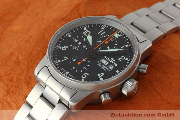 Used luxury watch Fortis Cosmonauts Chronograph chronograph steel automatic Kal. ETA 7750 Ref. 597.10.141  | 142633 01